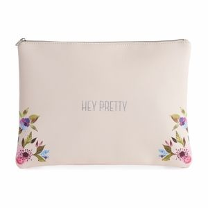 "LC LAUREN CONRAD ""Hey Pretty"" Floral Cosmetic Case"